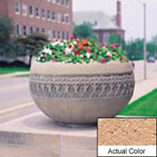 Wausau TF4226 Round Outdoor Planter - Weatherstone Cream 42x24