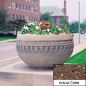 Wausau TF4226 Round Outdoor Planter - Weatherstone Brown 42x24