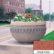 Wausau TF4226 Round Outdoor Planter - Weatherstone Brick Red 42x24
