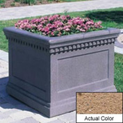 Wausau TF4236 Square Outdoor Planter - Weatherstone Sand 24x24x20