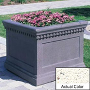 Wausau TF4236 Square Outdoor Planter - Weatherstone White 24x24x20