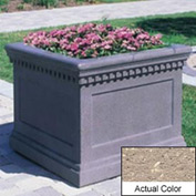Wausau TF4236 Square Outdoor Planter - Weatherstone Buff 24x24x20