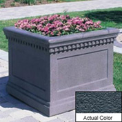 Wausau TF4236 Square Outdoor Planter - Weatherstone Charcoal 24x24x20