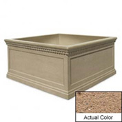 Wausau TF4237 Square Outdoor Planter - Weatherstone Sand 72x72x36