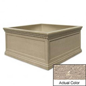 Wausau TF4237 Square Outdoor Planter - Weatherstone Buff 72x72x36