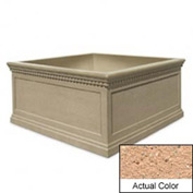 Wausau TF4237 Square Outdoor Planter - Weatherstone Cream 72x72x36