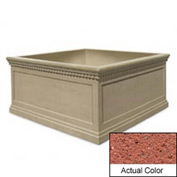 Wausau TF4237 Square Outdoor Planter - Weatherstone Brick Red 72x72x36