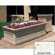 Wausau TF4238 Rectangular Outdoor Planter - Weatherstone White 72x36x24