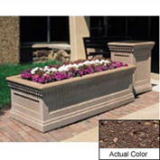 Wausau TF4238 Rectangular Outdoor Planter - Weatherstone Brown 72x36x24