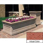Wausau TF4238 Rectangular Outdoor Planter - Weatherstone Brick Red 72x36x24