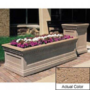 Wausau TF4239 Rectangular Outdoor Planter - Weatherstone Sand 48x24x20