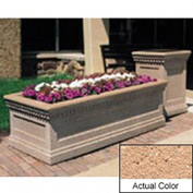 Wausau TF4239 Rectangular Outdoor Planter - Weatherstone Cream 48x24x20