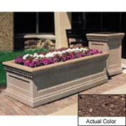 Wausau TF4239 Rectangular Outdoor Planter - Weatherstone Brown 48x24x20