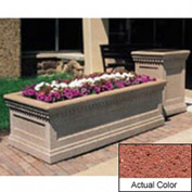 Wausau TF4239 Rectangular Outdoor Planter - Weatherstone Brick Red 48x24x20
