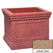 Wausau TF4240 Square Outdoor Planter - Weatherstone Sand 36x36x30