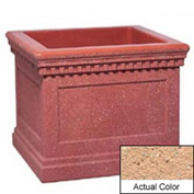 Wausau TF4240 Square Outdoor Planter - Weatherstone Cream 36x36x30