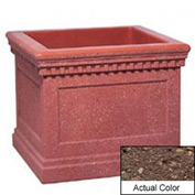 Wausau TF4240 Square Outdoor Planter - Weatherstone Brown 36x36x30