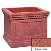 Wausau TF4240 Square Outdoor Planter - Weatherstone Brick Red 36x36x30