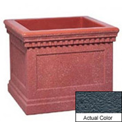 Wausau TF4240 Square Outdoor Planter - Weatherstone Charcoal 36x36x30
