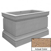 Wausau TF4241 Rectangular Outdoor Planter - Weatherstone Sand 48x30x36