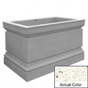Wausau TF4241 Rectangular Outdoor Planter - Weatherstone White 48x30x36