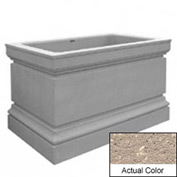 Wausau TF4241 Rectangular Outdoor Planter - Weatherstone Buff 48x30x36