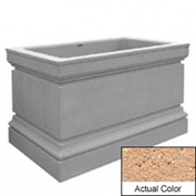 Wausau TF4241 Rectangular Outdoor Planter - Weatherstone Cream 48x30x36
