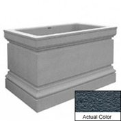 Wausau TF4241 Rectangular Outdoor Planter - Weatherstone Charcoal 48x30x36