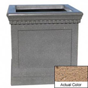 Wausau TF4242 Square Outdoor Planter - Weatherstone Sand 36x36x36