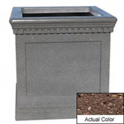 Wausau TF4242 Square Outdoor Planter - Weatherstone Brown 36x36x36