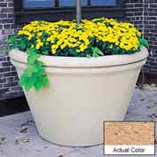 Wausau TF4305 Round Outdoor Planter - Weatherstone Cream 60x38
