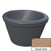 Wausau TF4306 Round Outdoor Planter - Weatherstone Sand 36x24