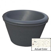 Wausau TF4306 Round Outdoor Planter - Weatherstone White 36x24