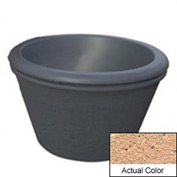Wausau TF4306 Round Outdoor Planter - Weatherstone Cream 36x24
