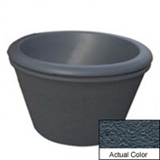 Wausau TF4306 Round Outdoor Planter - Weatherstone Charcoal 36x24