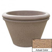 Wausau TF4307 Round Outdoor Planter - Weatherstone Sand 30x20