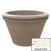 Wausau TF4307 Round Outdoor Planter - Weatherstone White 30x20