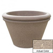 Wausau TF4307 Round Outdoor Planter - Weatherstone Buff 30x20