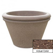 Wausau TF4307 Round Outdoor Planter - Weatherstone Brown 30x20
