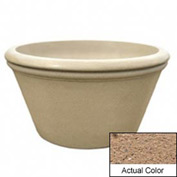 Wausau TF4308 Round Outdoor Planter - Weatherstone Sand 48x24