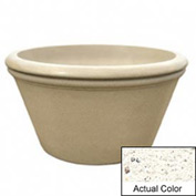 Wausau TF4308 Round Outdoor Planter - Weatherstone White 48x24