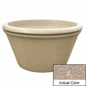 Wausau TF4308 Round Outdoor Planter - Weatherstone Buff 48x24