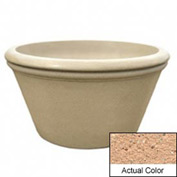 Wausau TF4308 Round Outdoor Planter - Weatherstone Cream 48x24