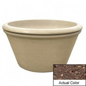 Wausau TF4308 Round Outdoor Planter - Weatherstone Brown 48x24