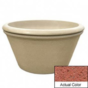Wausau TF4308 Round Outdoor Planter - Weatherstone Brick Red 48x24