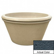 Wausau TF4308 Round Outdoor Planter - Weatherstone Charcoal 48x24