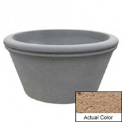 Wausau TF4309 Round Outdoor Planter - Weatherstone Sand 72x38