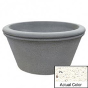Wausau TF4309 Round Outdoor Planter - Weatherstone White 72x38