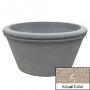 Wausau TF4309 Round Outdoor Planter - Weatherstone Buff 72x38