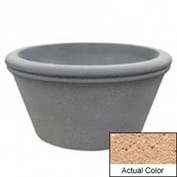 Wausau TF4309 Round Outdoor Planter - Weatherstone Cream 72x38